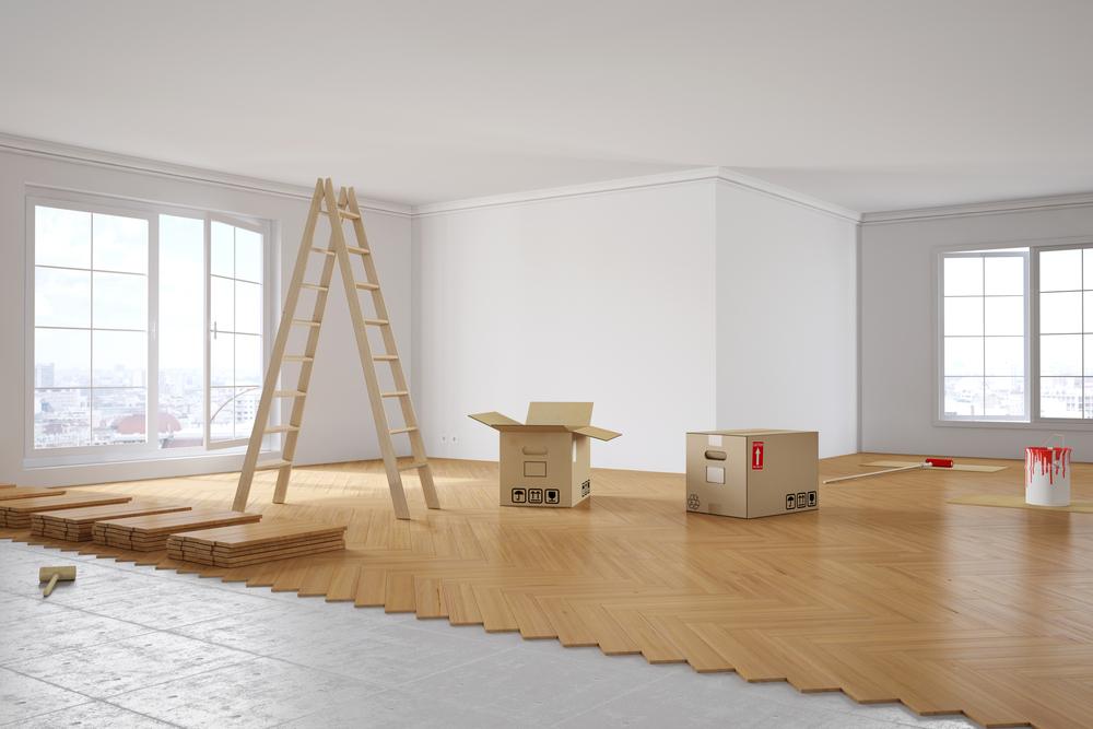 Leeres Appartement wird gerade renoviert